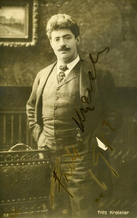 Photograph of Fritz Kreisler