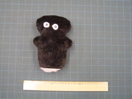 Plush toy test sample in black