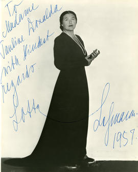 Photograph of Lotte Lehmann