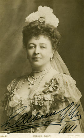 Photograph of Dame Emma Albani