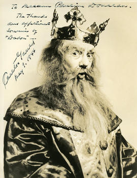 Photograph of Carlton Gould (in costume)