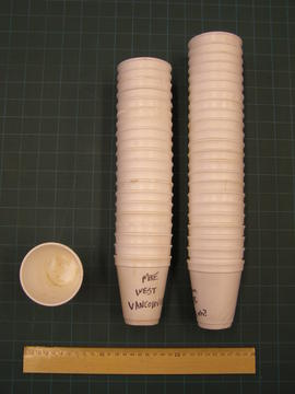 Styrofoam cups from Canada House opening
